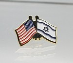US/Israel Friendship Flag Lapel Pin (Photo Etched)